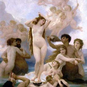 The Heart's Awakening, Our Lady of the Angels, Young Girl Defending Herself against Eros and The Birth of Venus by William Adolphe Bouguereau, Printed on Canvas