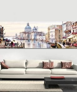 Paintings of Cityscape by Richard Macneil, Printed on Canvas