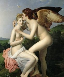 Famous Painting Sai Ji accepts Cupid's first kiss French Gérard, Oil Painting Prints on Canvas Wall Art Picture for Room Decor