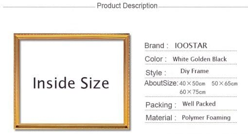 Customize Diy outer frame for canvas Numbers oil painting,painting diamond,Unique Combination,Art Picture frame Home Decor Gift
