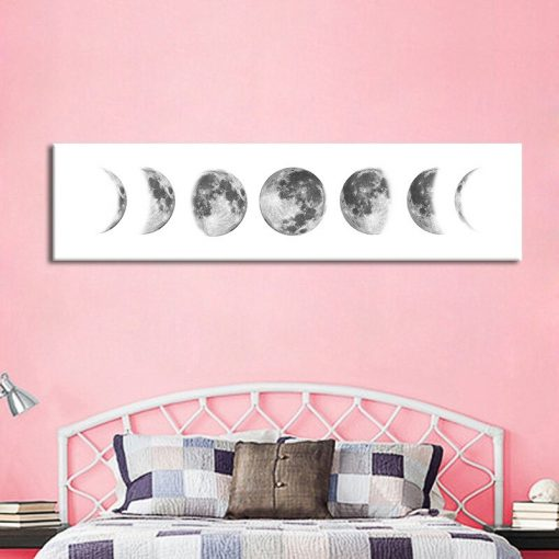 Moon Phase Nordic Canvas Posters and Prints Minimalist Luna Wall Art Abstract Painting Decoration Pictures Modern Home Decor