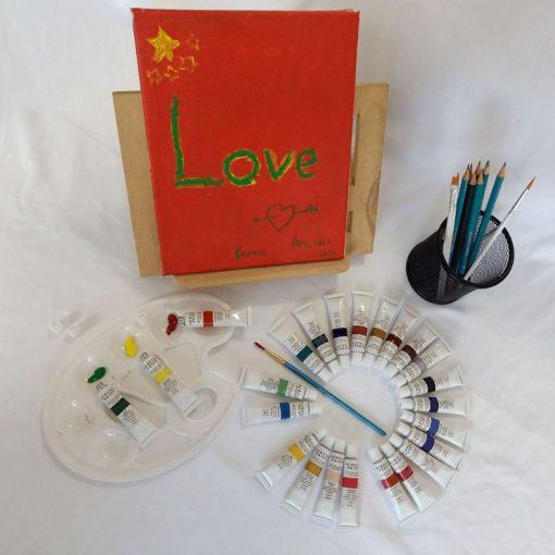 Acrylic Paint Set 24 Color Tubes of 0.4 oz (12 ml) Art Set for Kids Students Painting Canvas