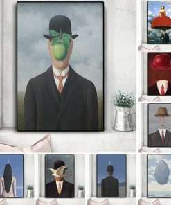 Rene Magritte Canvas Painting Surrealism Classic Artwork Reproduction Posters and Print Wall Art Picture for Living Room Cuadros