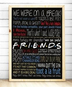 Friends TV Show Classic Quote Posters and Prints Wall art Decorative Picture Canvas Painting For Living Room Home Decor Cuadros