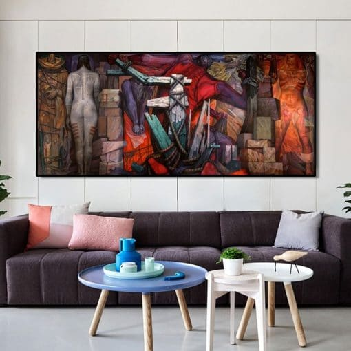Guernica Famous Canvas Paintings Reproductions Print On Canvas Art Prints Artwork By Picasso Wall Pictures For Living Room Wall