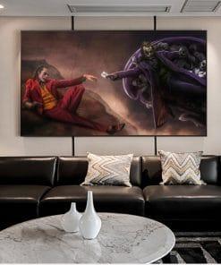 Joker Hand to Hand Graffiti Art Paintings On the Wall Art Posters And Prints Heath Ledger Joker Modern Art Pictures Home Decor