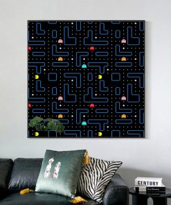 Nordic Modern Classic Arcade Game Pac-Man Canvas Painting Posters and Prints Wall Art Pictures for Living Room Home Decoration