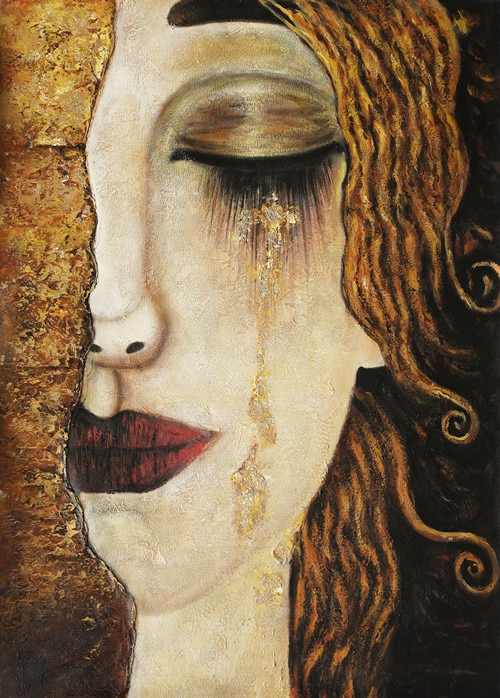 Classic Artist Gustav Klimt Tear Abstract Oil Painting on Canvas Posters and Prints Art Wall Pictures For Living Room Cuadros
