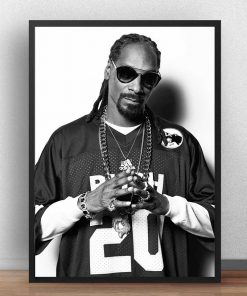 Snoop Dogg's Famous Music Star Poster Printed on Canvas