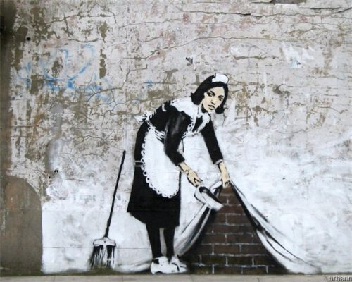 Classic Graffiti By Banksy Art Canvas Painting & Calligraphy Nordic Fashion Posters and Prints Home Decoration Wall Art Picture