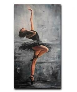 Wall Art Portrait Art Painting Wall Canvas Art Poster and Print Wall Art Beautiful Ballerina Picture for Living Room Home Decor