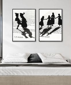 Nordic Abstract Wall Art Poster Prints Black White Shadow On the Book Canvas Painting Modern Minimalist Living Room Home Decor