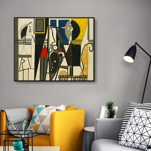Abstract Picasso's Replica of Classic Art Canvas Painting Posters and Prints Wall Art Picture for Living Room Decoration Cuadros