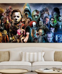 movie poster painting canvas posters wall art decoracion hogar moderno cuadros home maison deco by numbers living home