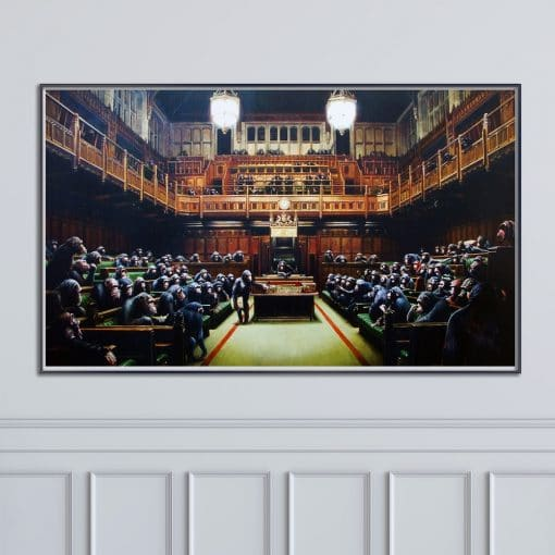 Banksy Monkey Parliament Canvas Paintings Modern Abstract Posters and Prints Wall Art Pictures for Living Room Home Decoration