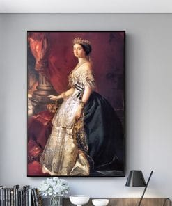 Franz Xaver Winterhalter Canvas Painting Portrait Posters and Prints Wall Art Picture for Living Room Home Decoration Cuadros