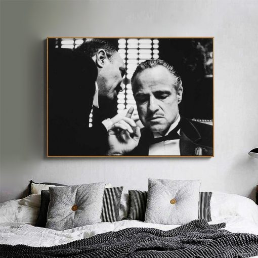 Movie Godfather Modern Art Vintage Posters And Prints Black And White Movie Photo Canvas Painting Wall Art Picture Home Decor