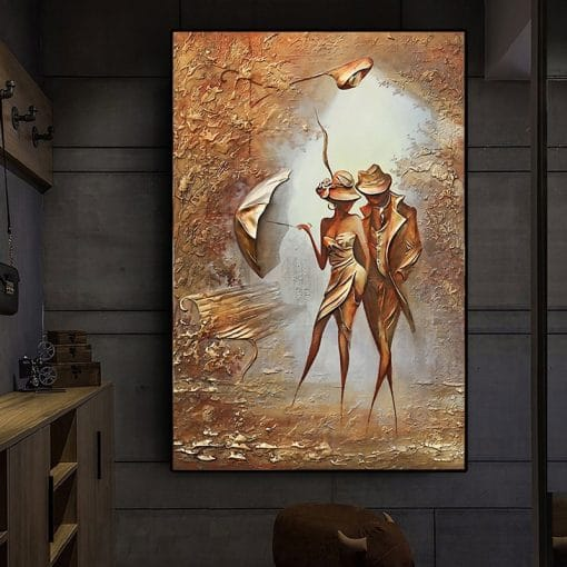 Exquisite Love Romantic Couple Home Art Interesting Canvas Posters And Prints On The Wall Art Picture For Living Room Canvas Painting