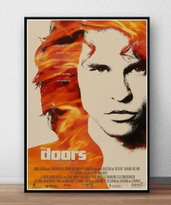 The Doors Jim Morrison Poster Rock Band Music Guitar Canvas Wall Art For Living Room Home Decoration