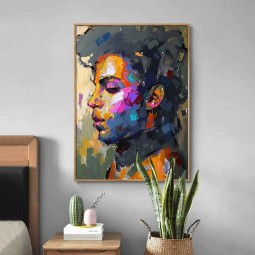 Modern Abstract Portrait Posters and Prints Wall Art Canvas Painting Prince Rogers Nelson Pictures for Living Room Home Decor