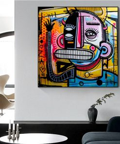 Graffiti Street Art Joachim Abstract Colorful Oil Painting on Canvas Poster and Prints Cuadros Wall Art Picture for Living Room