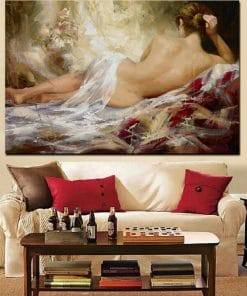 Print Abstract Portrait Modern Nude Woman Oil Painting on Canvas Art Sexy Female Lady Body Wall Picture for Living Room Cuadros