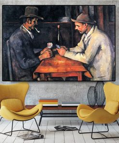 Card Players Paul Cezanne Oil Painting on Canvas Posters And Prints Wall Art Picture For Living Room Scandinavian Cuadros Decor