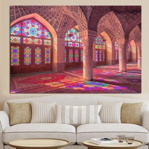 Mecca Islamic Islam Building Picture Art Prints and Posters Mosque Landscape Painting On Canvas Religious Wall Art Cuadros Decor