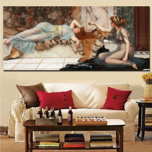 Digital HD Print Sexy Woman Nude Portrait Oil Painting on Canvas Poster Sleeping Woman Picture Wall Art for Living Room Cuadros