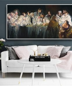 Last Supper by Robert.Lenkiewicz Portrait Abstract Canvas Painting Cuadros Posters and Prints Wall Art Pictures For Living Room