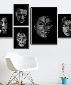 Bedroom Living Sofa Wall Art Home Decor Picture Prince Michael Jackson Bowie Quote Legends Star Quality Canvas Painting Poster