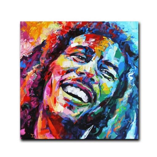 Modern Abstract Portrait Canvas Painting Bob Singer Picture Posters and Prints Cuadros Wall Art Picture for Living Room Decor