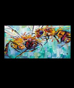 Horse Wild Animals Elephant Bee Maple Leaf Canvas Painting Posters and Prints Cuadros Wall Art Pictures For Living Room Decor