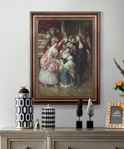 Vintage European Party Palace Portrait Canvas Painting Posters and Prints Cuadros Wall Art Picture for Living Room Home Decor