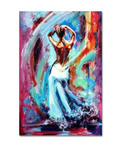 Abstract Colorful Nude Girl Women Dancing Oil Painting on Canvas Posters and Prints Cuadros Wall Art Picture for Living Room