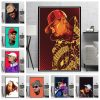 Hip Hop Rapper Music Star Chris Brown Quality Canvas Painting Poster Art Home Decor Bar Bedroom Living Sofa Wall Decor Picture