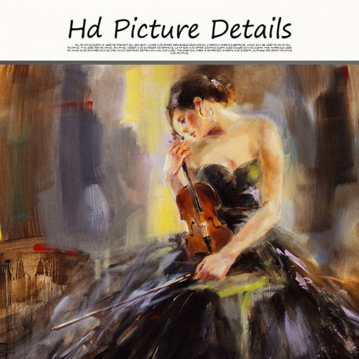 Abstract Girl Oil Painting on Canvas Scandinavian Posters and Prints Wall Art Picture for Living Room Cuadros