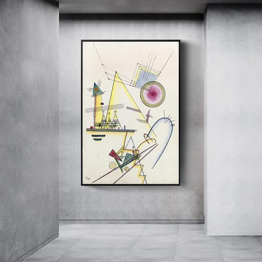 Abstract Geometric Artwork By Wassily Kandinsky Canvas Art Paintings Posters and Prints Reproductions Wall Pictures Home Decor