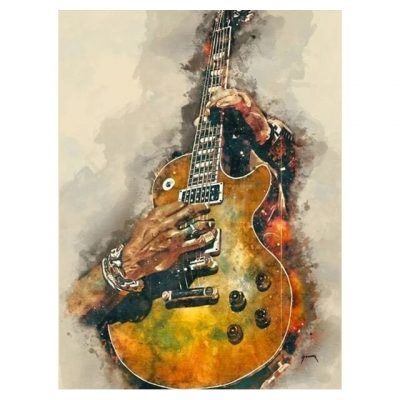 Canvas Painting Rock Guitar High Quality Graffiti Wall Art Posters Prints Nordic Style Picture for Living Room Home Decoration