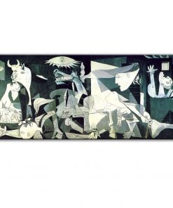 Picasso Famous Guernica Art Paintings on Canvas Abstract Prints and Posters Wall Art Picture Artwork for Living Room Home Decor