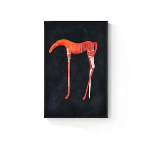 Abstract Canvas Painting Horse Art Black Orange Poster Fashion Wall Art Prints Posters Pictures for Living Room Art Canvas Decor