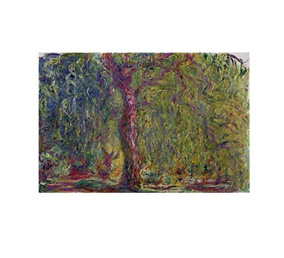 Claude At Dusk Monet Painting Water Lilies Willow Tree Oil Painting on Canvas Prints and Posters Wall Art Picture for Home Decor