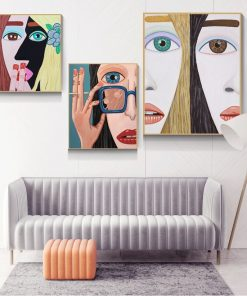 Famous Animate Figures Canvas Painting Modern Lifelike Posters and Prints Cuadros Wall Art Pictures for Living Room Home Decor