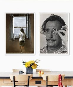 Lookout Woman By Salvador Dali Canvas Painting Nordic Simple Posters and Prints Wall Art Picture for Living Room Home Decoration