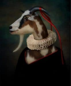 Earl of the Goat Classical Canvas Paintings On the Wall Art Posters And Prints Mr. Goat In a Suit Canvas Picture Home Wall Decor