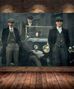 British High Score Crime Drama Peaky Blinders Poster Hight Quality Canvas Painting Home Decor Wall Art Duvar Tablolar