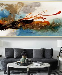 Modern Abstract Oil Painting on Canvas Colorful Rhythm Posters and Prints Cuadros Wall Art Pictures for Living Room Home Decor