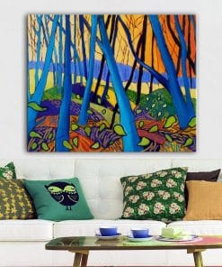 Winter Trees By David Hockney Canvas Painting Modern Abstrcat Prints and Posters Wall Art Pictures for Living Room Home Decor