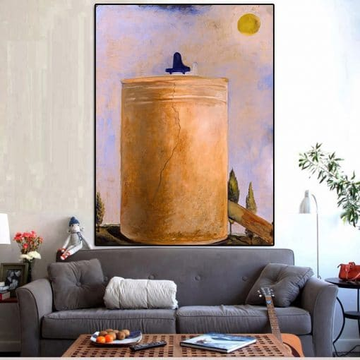 Surreal Idea Salvador Dali Scenery of The Spiritual World Oil Painting on Canvas Posters and Print Cuadros for Living Room Decor