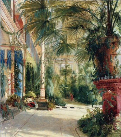 German Carl Blechen Palm House Canvas Paintings Classic Famous Posters and Prints Wall Art Pictures for Living Room Home Decor